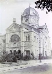 Ausschnitt aus einer Ansichtskarte der Neuen Synagoge Bad Kissingen, um 1900, @ Jüdisches Museum Franken