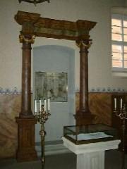 Innenansicht der Synagoge Gaukönigshofen, © Wolfgang Gillitzer